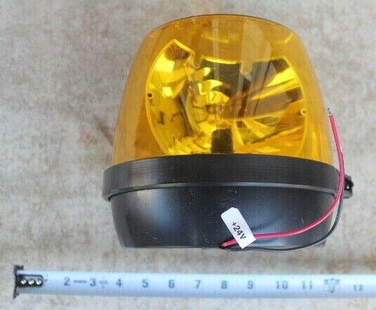 NOS WHELEN RB6P Rotating Amber Beacon Light, 24V, U.S. Milit