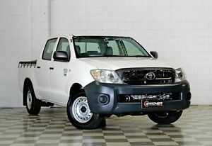 2010 Toyota Hilux TGN16R Workmate White 5 Speed Manual Dual Cab Burleigh Heads Gold Coast South Preview