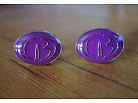 Rare Pair Of Purple Ozwald Boateng Cufflinks