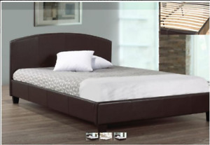 BRAND NEW BLACK,ESPRESSO,WHITE,GREY,PLATFORM BED WITH SLATS