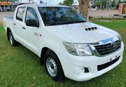 2014 Toyota Hilux KUN16R MY14 SR Double Cab 4x2 White 5 Speed Manual Utility Berrimah Darwin City Preview