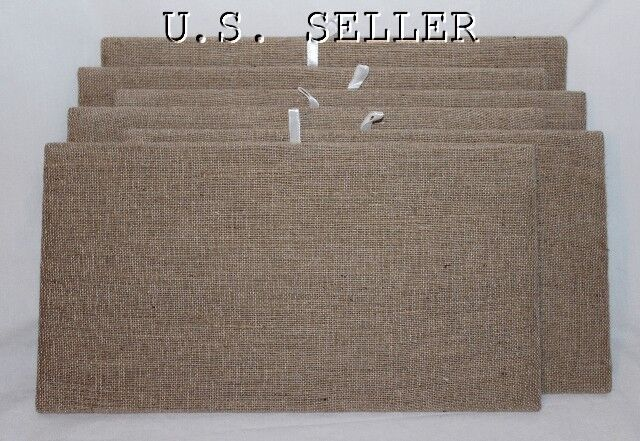 Lot Of 6 Natural Color Linen Pad Tray Insert