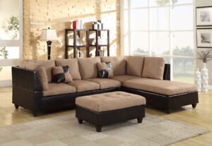 L Shape Sectional with FREE OTTOMAN.