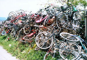 We * Recycle * Any old unwnated Bicycles / We pick up or you dro