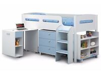 BRAND NEW BOXED JULIAN BOWEN KIMBO CABIN BED WHITE & SKY BLUE CAN DELIVER View Collect Kirkby NG17