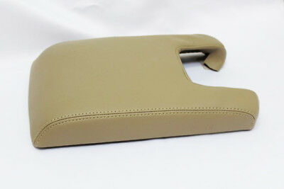 Real Leather Beige Center Console Lid Armrest Cover Fits 09-14 Acura TL