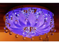 Modern RGB Colour changing LED Ceiling Chandelier Lights MP3 Music Remote