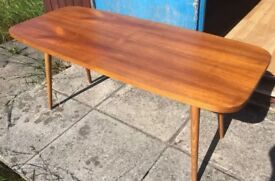 Vintage Danish Teak Coffee Table Solid Item 1960's