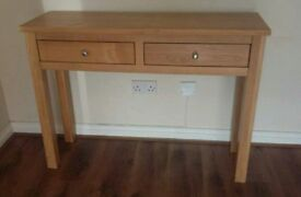 SOLD Solid Oak Console Hall Table