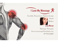 Sunday massage therapy appointments. swedish , deep tissue, sports
