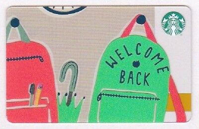 Starbucks 2018 Back to School Welcome Back Gift Card 6156
