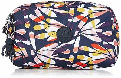 Kipling Women Gleam Pouch Cosmetic Case Zip Closure(Retro Floral/Silver) NWT$29