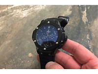Men's Black Hublot Watch Automatic Hand Wind movement boxed