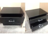 Bedside with 2 drawers-perfect condition- high gloss- delivery available!!