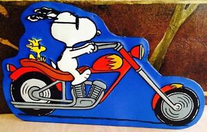 16.5 x 10 Inches- Snoopy & Woodstock- Motorcycle Metal Wall Sign Sarnia Sarnia Area image 1
