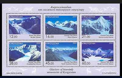 2009 Kyrgyzstan Mountain Glaciers min. sheet MNH