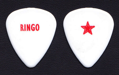 Beatles Ringo Starr Red/White Guitar Pick - 2001 Tour