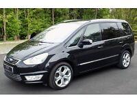 2012 12reg ford galaxy 2.2TDCI TITANIUM 102k fsh black satnav ew em AC cruise parking aid as new