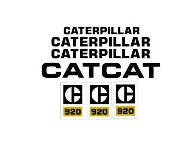 Caterpillar 920 Wheel Loader Decal Set Cat Stickers Lk 3m Emblem 920 Mini