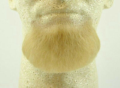 Blonde Human Hair Goatee Chin Beard Costume Beard 2022 (Blonde Hair Costumes)