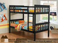 CLOSEOUT LIQUIDATION SALE TWIN TWIN BUNK BED ON SALE IN EXPRESSO
