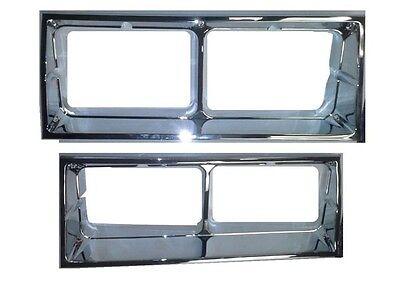 NEW 1981-86 Oldsmobile Cutlass Supreme Brougham Chrome Head light Bezel Set  ()