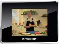 "Digital Photo Frame Media Chef Cookbook with a 100 recipes & videos played on a 8"" Screen"