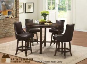 Counter Height Dining Set with Swivel Chairs - Online Sale event (MA294)