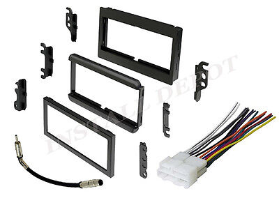 COMPLETE RADIO STEREO INSTALLATION DASH KIT PLUS WIRE HARNESS + ANTENNA (Radio Wire Harness Buick Park)