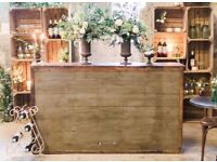 Vintage Shop Counter Bar Counter for Restaurant Retail Display or Kitchen island