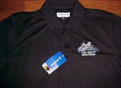 A18 Golf (Boeing S12 F/A 18E/F Super Hornet Program Men's Black Polo Golf Shirt S New)