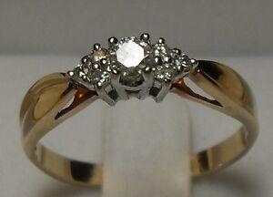Vintage - 14kt Yellow Gold .33ct Diamond Engagement Ring