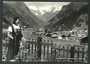 Gressoney-Val-d-039-Aosta-panorama-e-costume-viaggiata-1949