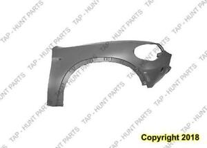 Fender Front Passenger Side With Side Lamp Hole Without Head Lamp Washer Hole CAPA BMW X5 2007-2010