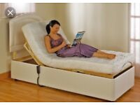 Adjustable single bed - electric controls for head and foot .