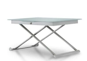 Callegaris tempered glass adjustable table