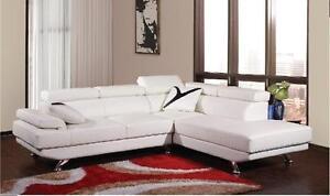 NEUF Sofa sectionnel avec tetes ajustables, BLANC,NOIR,GRIS ou ROUGE(1519)TAXES INCLUSES