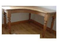 Corner desk, solid pine