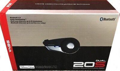 Sena 20S-01D Dual Headsets Motorcycle Bluetooth Communication Intercom 20S KIT