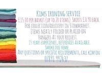 Kim's ironing service