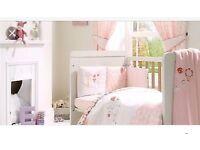 Mamas and papas girls pink lemonade cot bedding