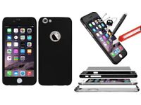 Hybrid Shockproof case for iPhone 6/6S with tempered glass cover