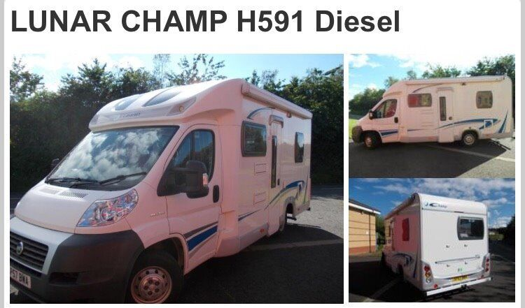 Lunar Champ H591 Motorhome 4 Berth With Fixed Bed At Rear And Fold Down In Lounge