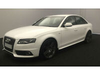 White AUDI A4 SALOON 1.6 1.8 2.0 TDI Diesel SPORT FROM £36 PER WEEK!