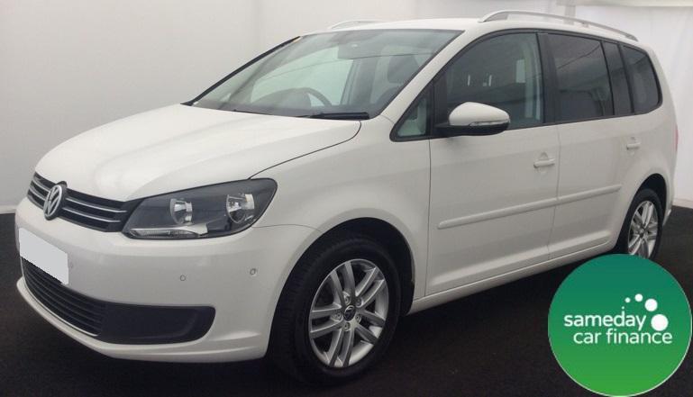£181.77 PER MONTH WHITE 2011 VW TOURAN 1.6 BLUEMOTION TECH SE 7 SEATER DIESEL