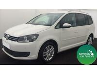£189.56 PER MONTH WHITE 2011 VW TOURAN 1.6 BLUEMOTION TECH SE 7 SEATER DIESEL