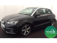£187.08 PER MONTH BLACK 2013 AUDI A1 1.6 TDI SPORT 3 DOOR DIESEL MANUAL