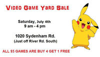 Peterborough's ONLY Video Game Yard Sale! **Saturday**