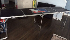 Collapsible beer pong table portable