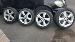 4-MAG -CAMRY-MATRIX avec pneu d'hiver Hankook 215 45R 17 @ 10/32